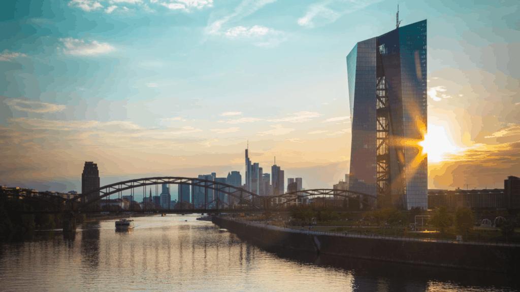 Gebäude der Europäischen Zentralbank EZB in Frankfurt