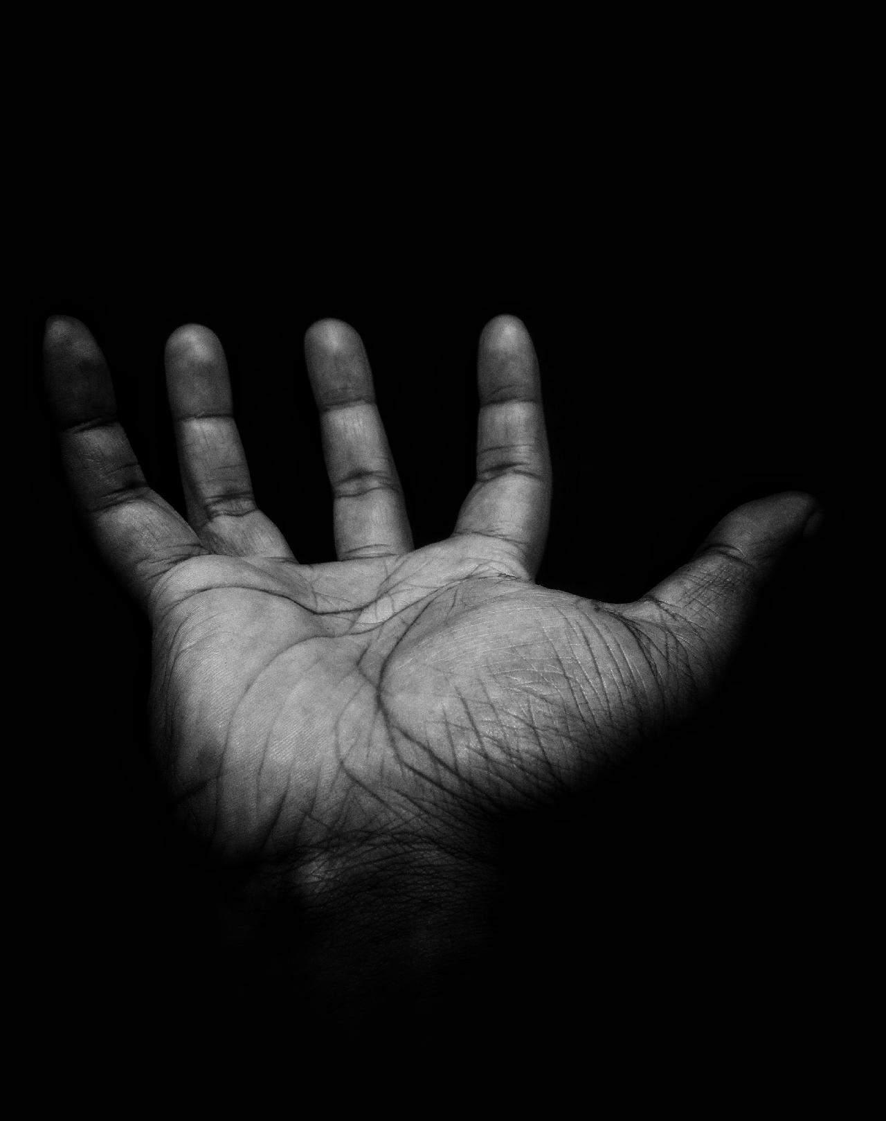 Hand als Symbol fuer Unterstuetzung