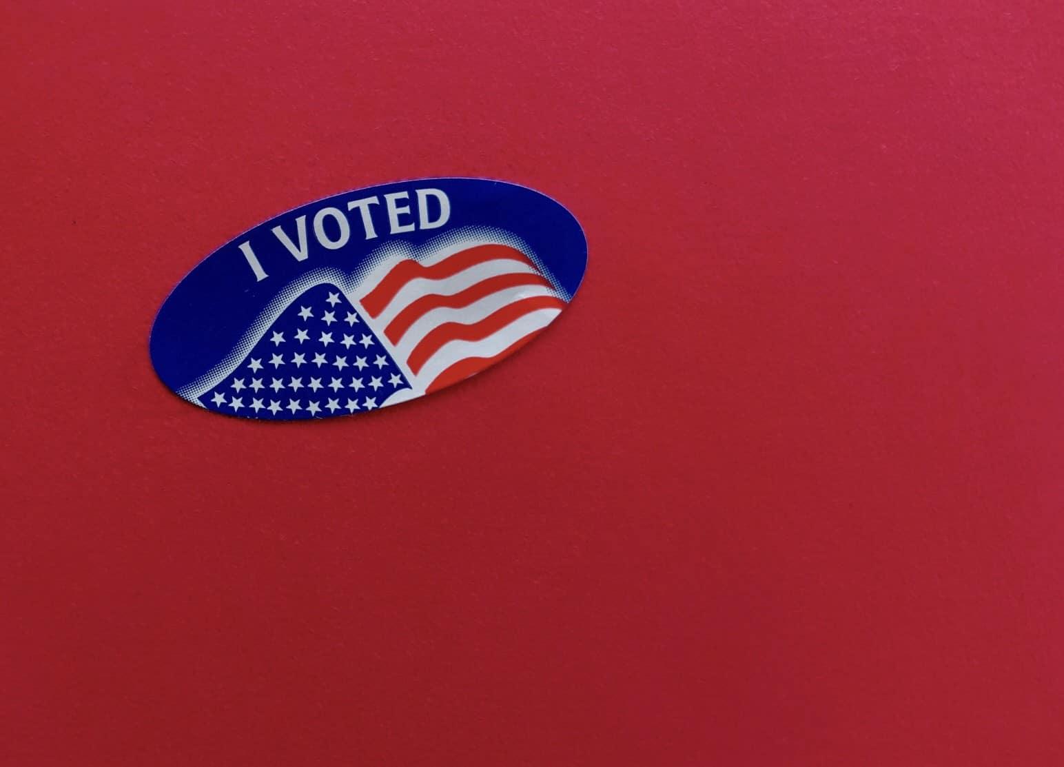 US Flag Sticker I voted