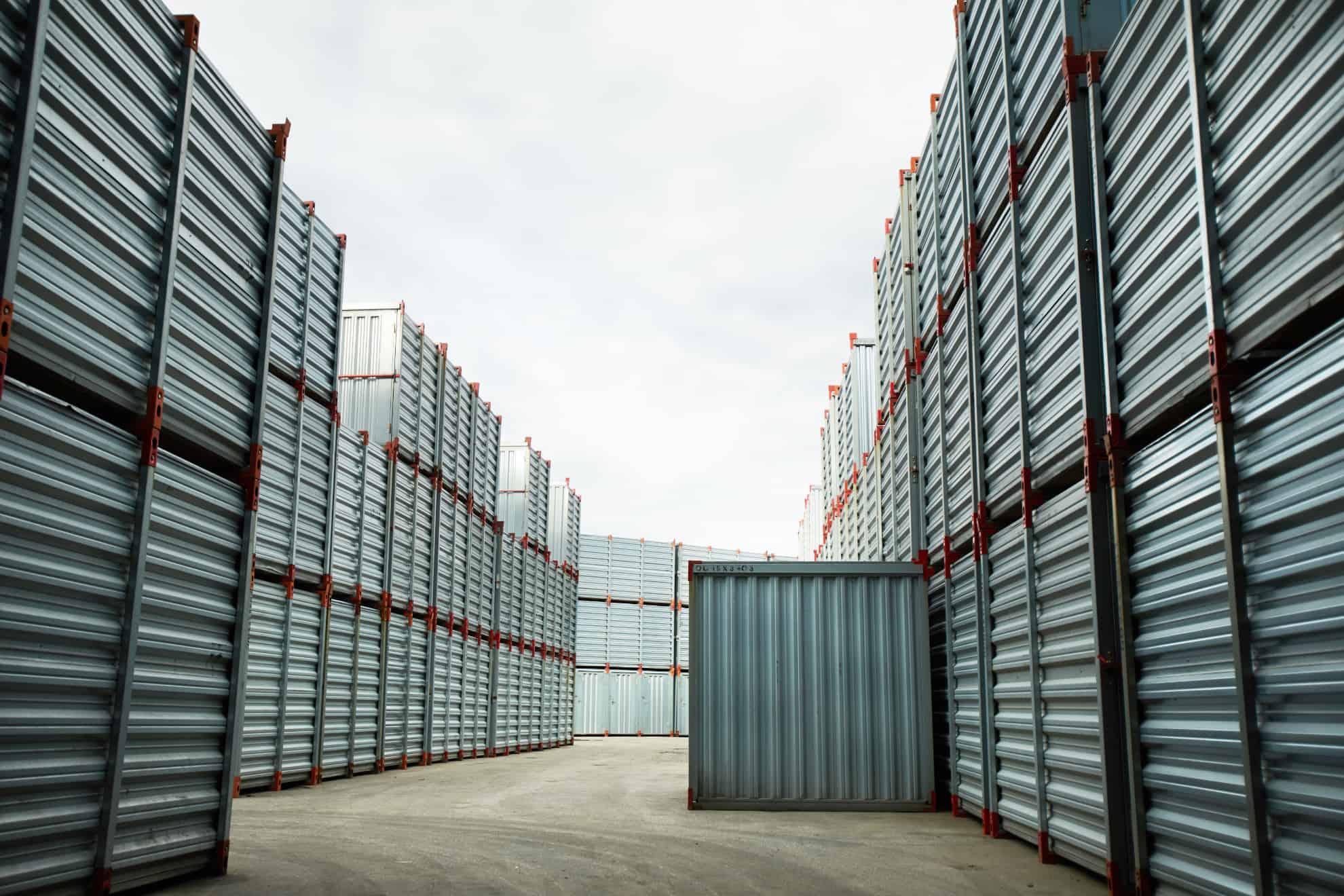 Container zum Transport von Handelswaren