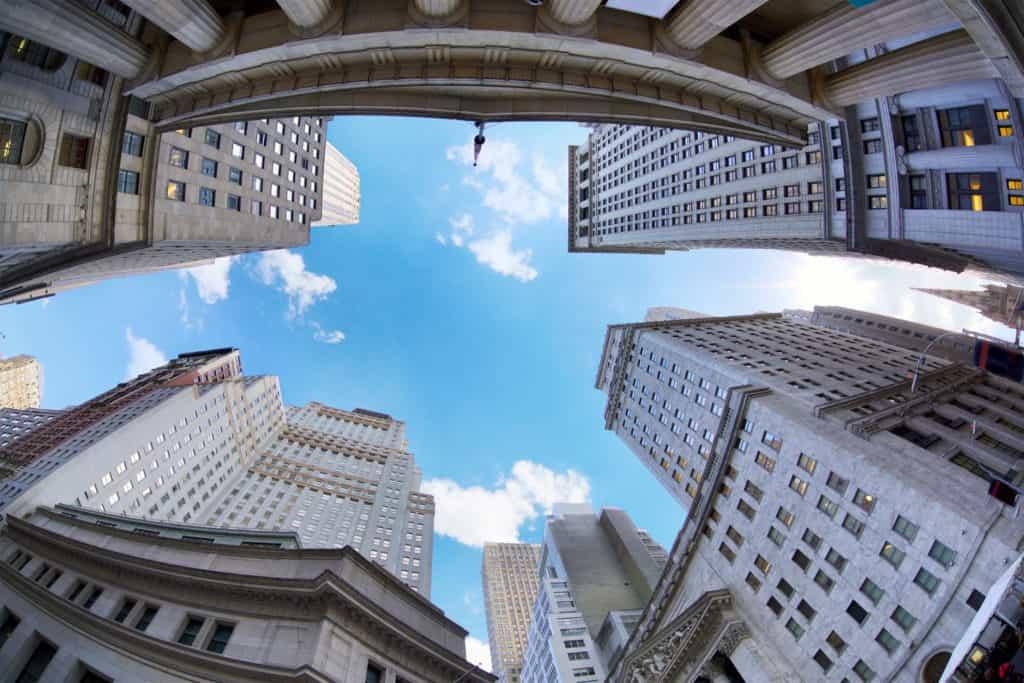 Wolkenkratzer an der Wall Street