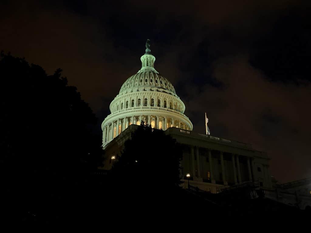Capitol, Washington, bei Nacht