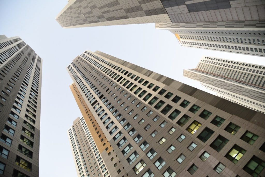 city, buildings, sky