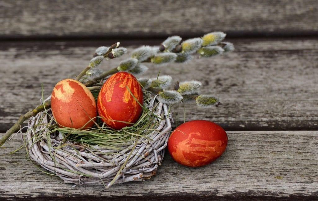 easter eggs, easter nest, easter decoration