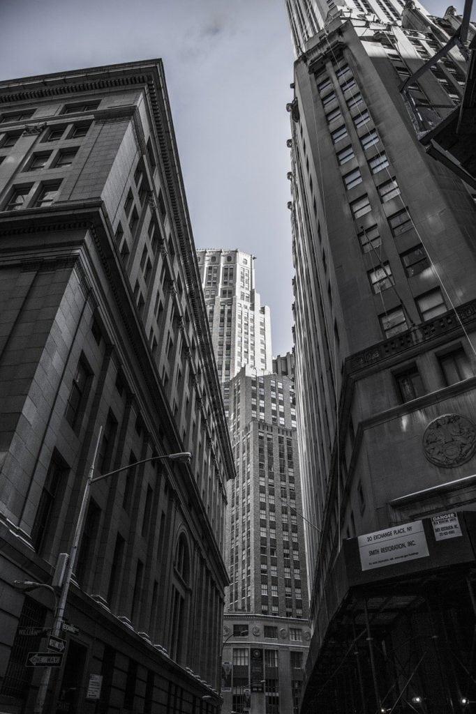 skyscrapers, new york, city centre
